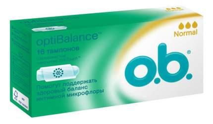 Тампоны o.b. optiBalance Нормал 16шт