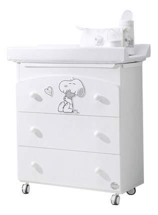 Комод детский Baby Expert Snoopy белый/серебро