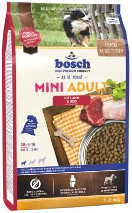 Сухой корм для собак Bosch Mini Adult, для мелких пород, ягненок и рис, 3кг