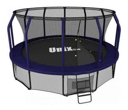Батут Unix Line Supreme с сеткой и лестницей 366 см, blue
