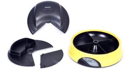Автокормушка для кошек и собак Feed-Ex, жк дисплей, с таймером, желтая, 2 л