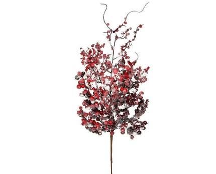 Ветка Красные ягоды в снегу 73 см 83043