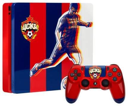 Игровая приставка Sony PlayStation 4 Slim 500Gb ЦСКА Красно-синяя