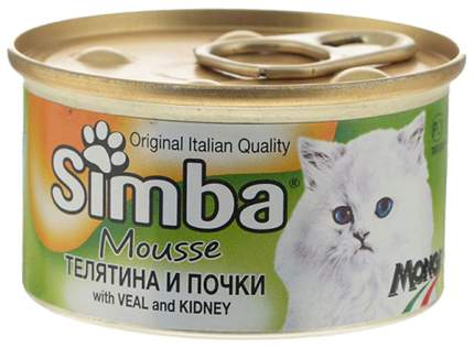 Консервы для кошек Simba Pate, паштет с телятиной и почками, 85г
