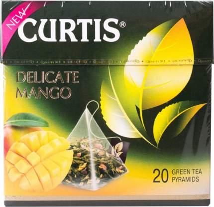 Чай зеленый Curtis delicate mango 20 пирамидок