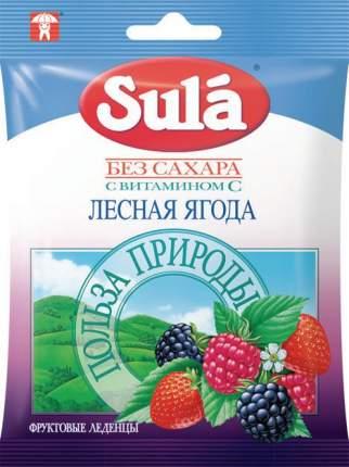 Леденцы Sula без сахара лесная ягода с витамином С 60 г