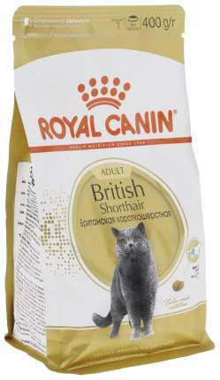 Сухой корм для кошек ROYAL CANIN British Shorthair, британская, домашняя птица, 0,4кг