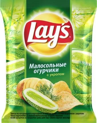 Картофельные чипсы Lay's малосольные огурчики с укропом 80 г