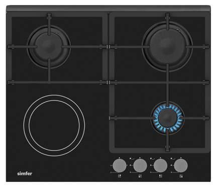 Встраиваемая варочная панель комбинированная Simfer H 60 H 32 S 512 Black
