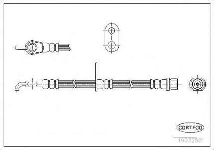 Шланг тормозной системы Corteco 19032581