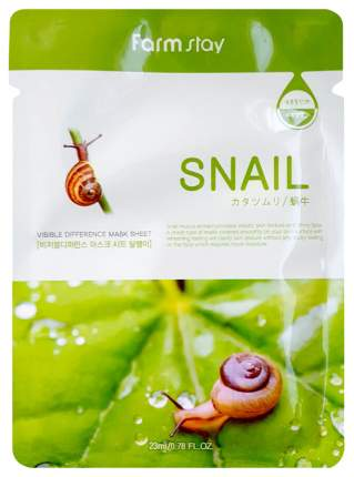 Маска для лица Farm Stay Visible Difference Mask Sheet Snail 23 мл