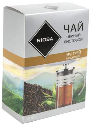 Чай черный Rioba эрл грей листовой с добавками рассыпной крупный 400 г