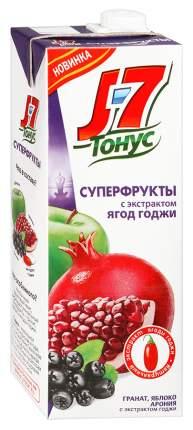 Нектар J7 тонус суперфрукты гранат-яблоко-арония с экстрактом годжи 0.9 л