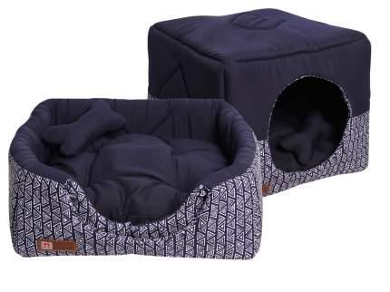 Домик-лежак для кошек и собак ЗООГУРМАН Домосед, синий, 950г, 45х45х45 см