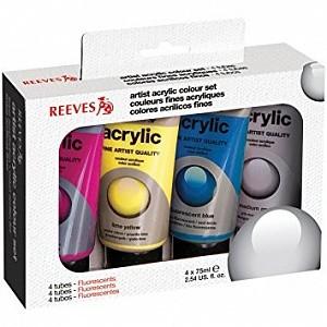 Акриловые краски Reeves Acrylic флуоресцентные 4 цвета