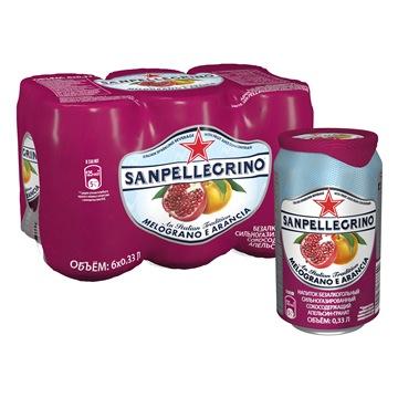 Напиток б/алк газ  S.Pellegrino гранат/апельсин 0.33 л ал/б по 6 шт