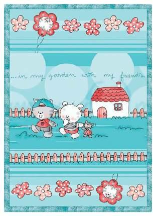 Одеяло детское ОТК байковое Друзья на отдыхе 100х140 см цвет голубой, УТ0009803
