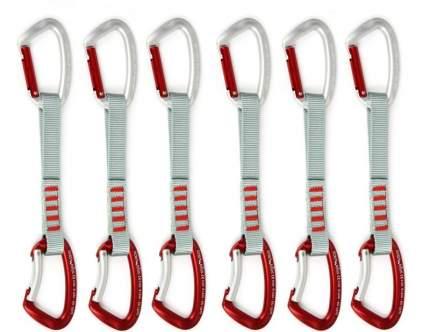Набор оттяжек с карабинами Edelweiss Top Evo Quickdraws 17 см, красный/серый, 6 шт.