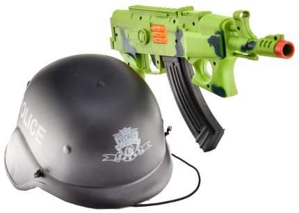 Набор оружия автомат и каска 200021978 в сетке