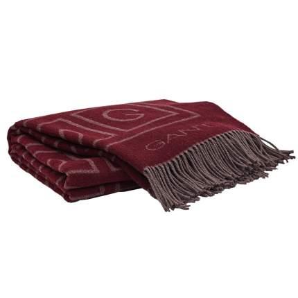 Плед Gant Home 1,5-спальный G THROW 130x180см, бордовый