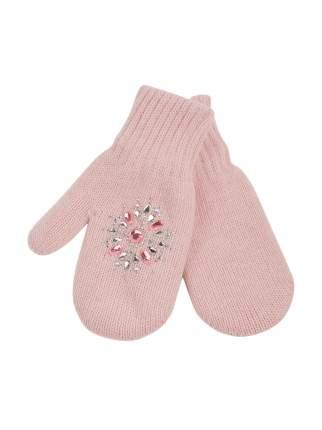 Варежки детские ALEKSA р.14 цвет светло-розовый
