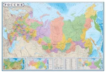 Настенная карта Атлас Принт политико-административная 1:3,7млн., 2,33х1,58м.