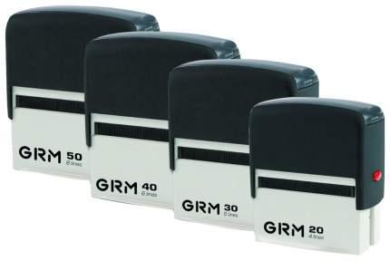 Штамп самонаборный 4-строчный GRM GRM20, оттиск 38х14 мм, синий