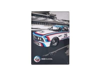 Металлическая пластина BMW Motorsport Heritage Metal Sign