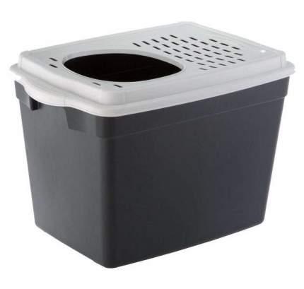 Туалет для кошек Ferplast JUMPY, прямоугольный, черный, 57,5х38,8х39 см