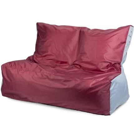 Бескаркасный диван ПуффБери Оксфорд One Size, оксфорд, Бордовый/Серый