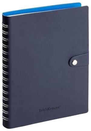 Ежедневник недатированный ErichKrause «Soft Touch» с хлястиком на кнопке Синий