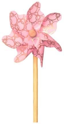 Ветрячок ЯиГрушка Золотые колечки 31 см розовый
