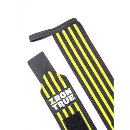 Бинт кистевой IronTrue черный/желтый, 50 см