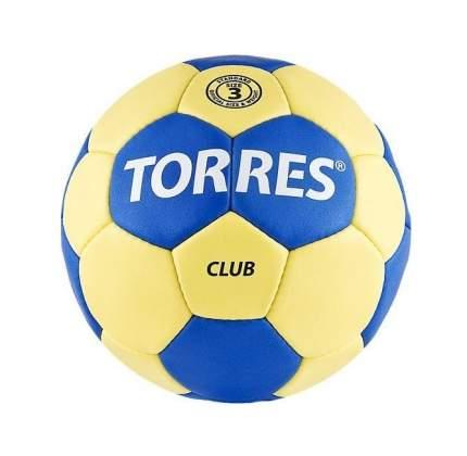 Мяч гандбольный Torres Club, 3, H30043 желтый/синий