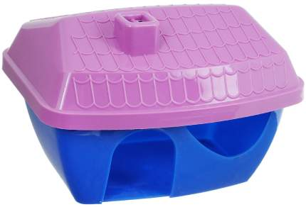 Домик для грызунов Зоомарк, цветной, пластиковый, без упаковки, 16х11х10см