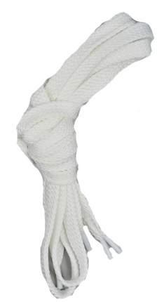 Шнурки для обуви плоские турецкое плетение 6-8мм x 120см белые25 комплектов