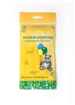 Маска медицинская FAVO MD3 Детская 3-х слойная 3 шт.