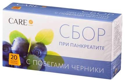 Сбор при панкреатите Care Health с побегами черники ф/п 20 шт.