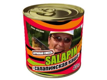Добавка Зерновой микс Салапинская каша для ловли крупной рыбы, 0,43 л, ваниль