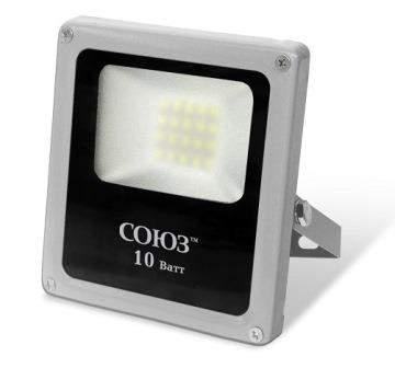 Прожектор SLIM LED SMD 10W 6500К IP65 прозрачный ст. СОЮЗ 42894