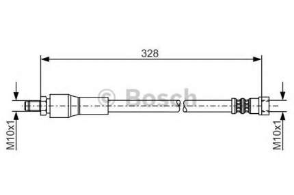 Шланг тормозной системы Bosch 1987481001