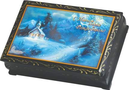 Курага Кремлина шоколадная с грецким орехом в сувенирной шкатулке-с рождеством 150 г