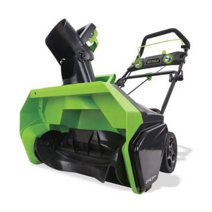 Аккумуляторный снегоуборщик Greenworks GD40STK6 2600007UF АКБ и ЗУ в комплекте