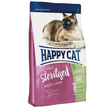 Сухой корм для кошек Happy Cat Sterilised, для стерилизованных, ягненок, 0,3кг