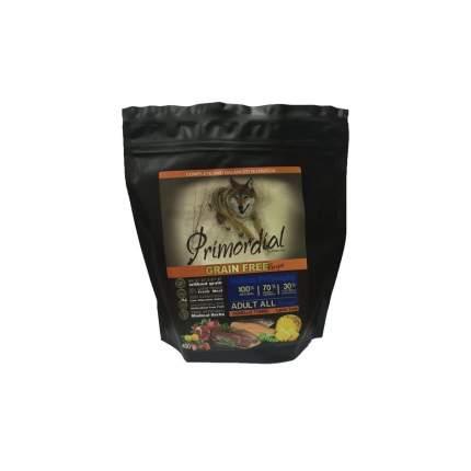 Сухой корм для собак Primordial Grain Free Adult All, тунец, ягненок, 0.4кг