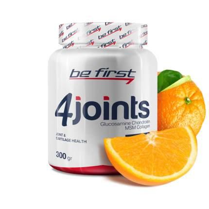 Средство для суставов и связок Be First 4joints в порошке 300 г, апельсин