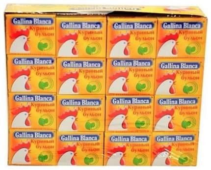 Бульон Gallina Blanca куриный с йодированной солью кубики  10 г 48 штук