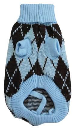 Свитер для собак Уют размер M унисекс, голубой, черный, длина спины 30 см