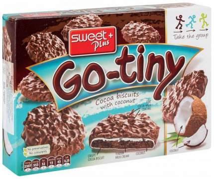 Печенье бисквитное Sweet Plus go-tiny со вкусом шоколада и кокосом 130 г