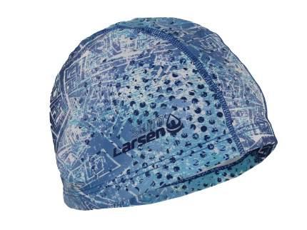 Шапочка для плавания Larsen PU100 white/blue